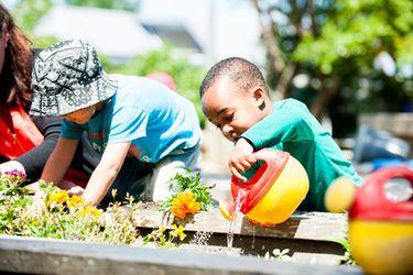 Children at a multi-ethnic ECE centre.