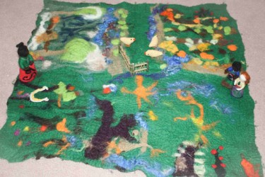 Felt story created by the children.