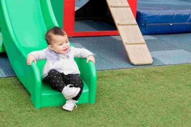 Child in an outdoor playground.