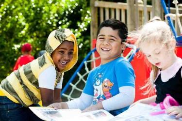 Children in the playground.