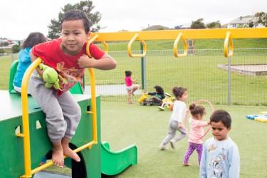Tamariki playing on the playground