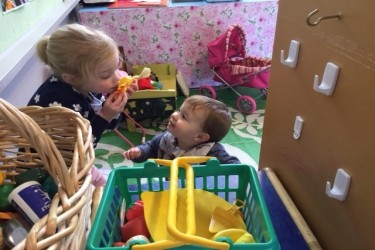 Children playing with toys.