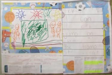 Child's artwork.