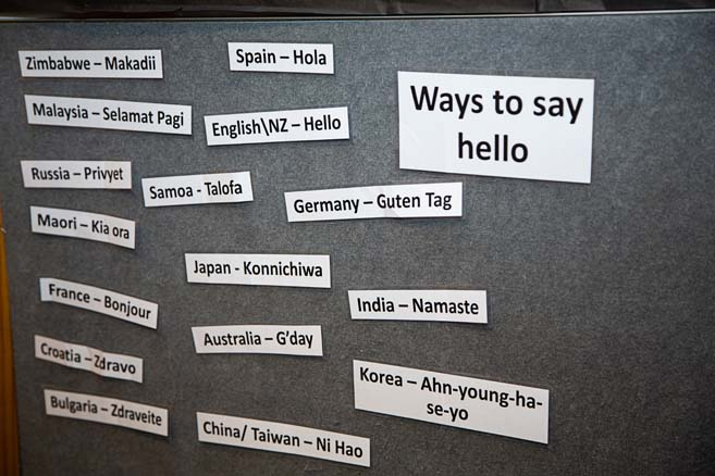 List of ways to say hello in different languages.